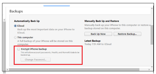 How to backup iPhone to computer