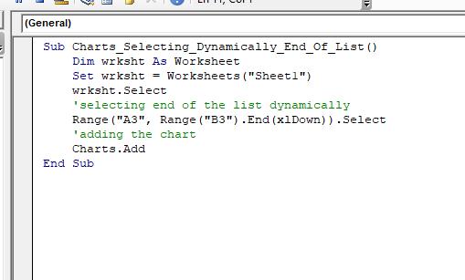 VBA Charts Basic Operations