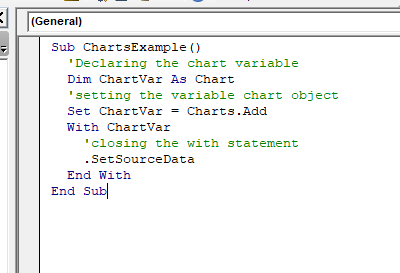 Steps to Create a Chart in VBA