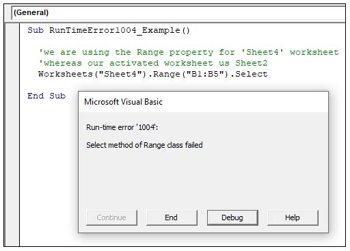 Vba Runtime Error 1004 Tutorial And Example