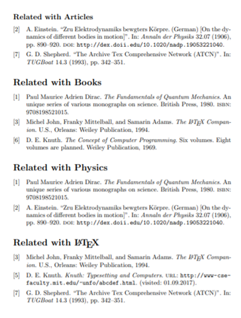 Bibliography in LaTex
