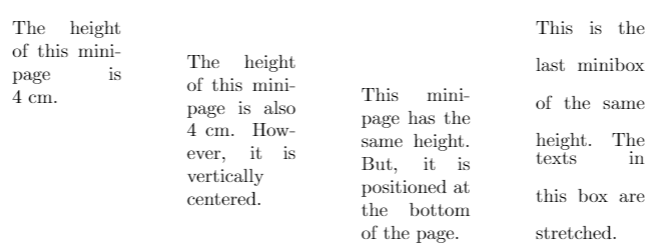 Different Kinds of Boxes in Latex