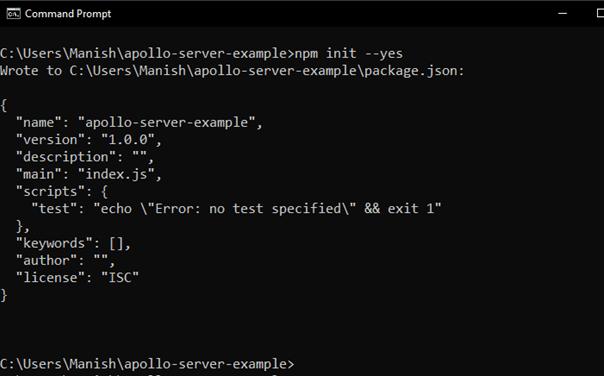 Installation of Apollo Server