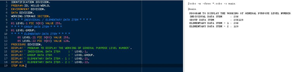 COBOL Data Items And Declaration