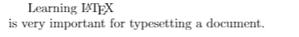 Basics of LaTex