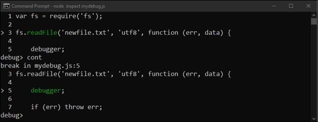 Node.js Core Debugger