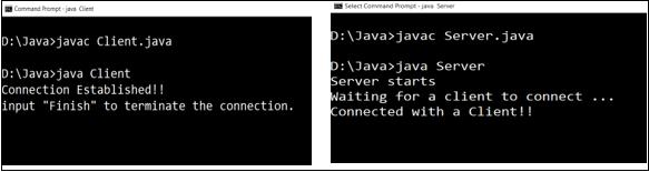 Client Server Program in Java