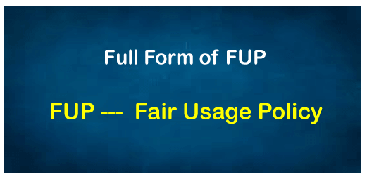 FUP Full Form