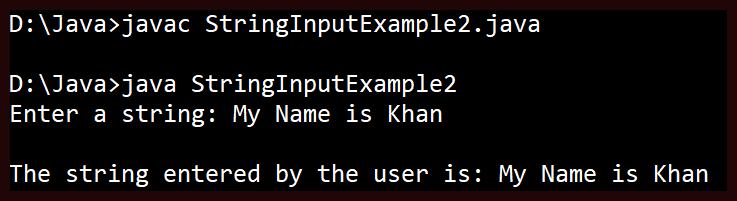 String Input in Java 1